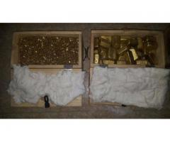 AU GOLD NUGGETS AND DORE BARS FOR SALE