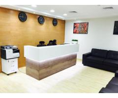 AED 30000-55000. SERVICED OFFICES. AL MUSALLA TOWERS. BURJUMAN-AL FAHIDI METRO STATION. DIRECT OWNER