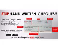 Online Cheque Printing Software with Mobile Application