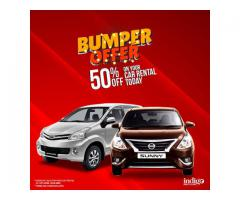 INDIGO RENT A CAR – BUMPER OFFER!!!