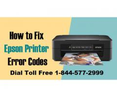 Fix Epson Printer Error Codes 1-844-577-2999 Toll Free